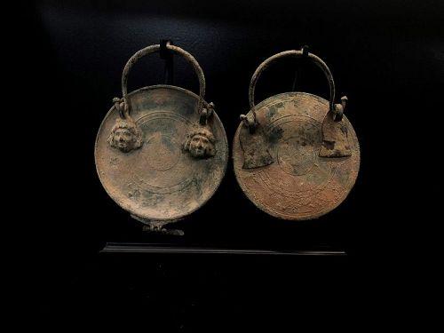 Roman bronze mirrors, 100-300 AD
