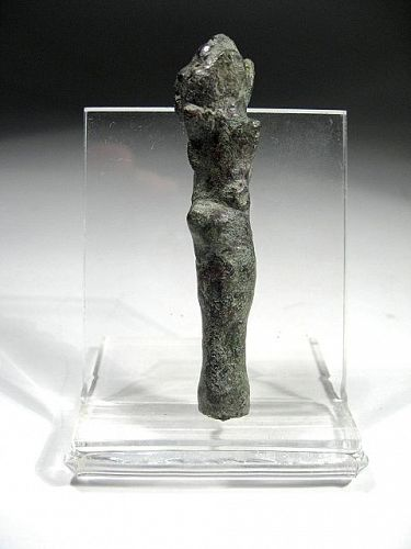 Rare Roman Bronze Miniature Club, 100-200 AD.