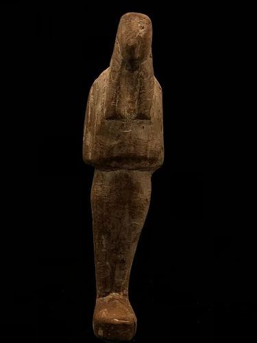 Egyptian wooden Ushebti. New Kingdom, 1539-1077 B.C.
