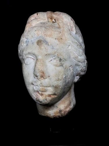 Roman marble head of Aphrodite. circa 2nd century AD