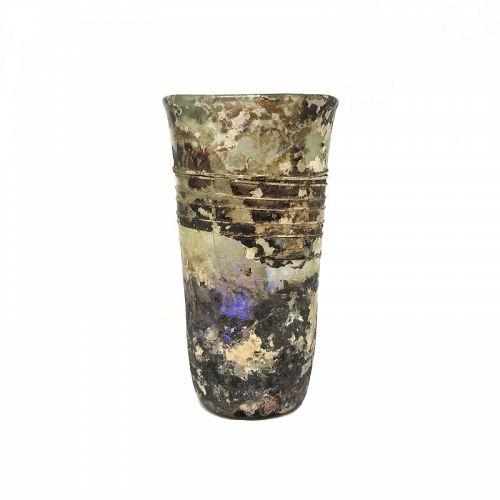 Roman glass, 3rd - 4th century A.D.