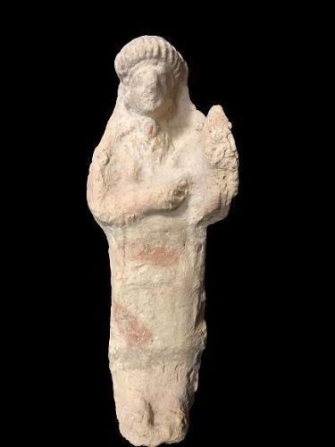Ancient Roman Terracotta figure of a musician, 300 A.D.