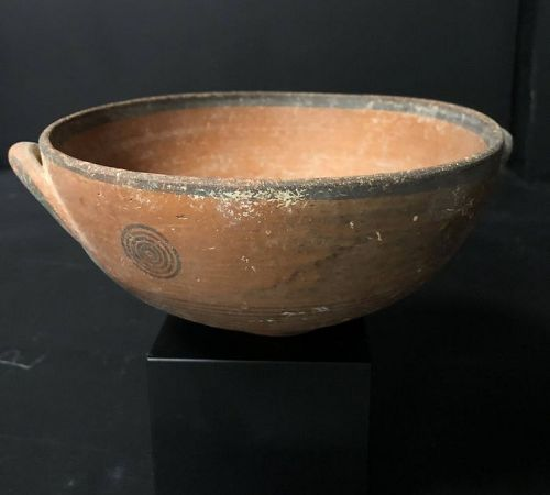 Cypriot Pottery bowled kylix, Circa 700-475 B.C.
