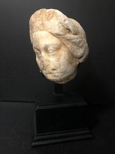 Roman Marble head fragment, 300 A.D.