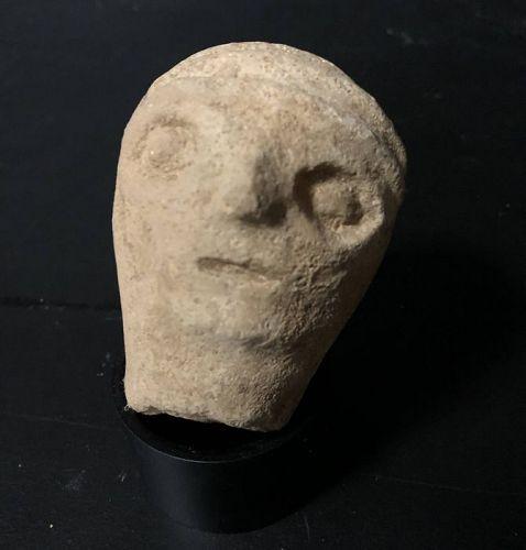 Canaanite Pottery head of a god, ca. 2000 B.C.