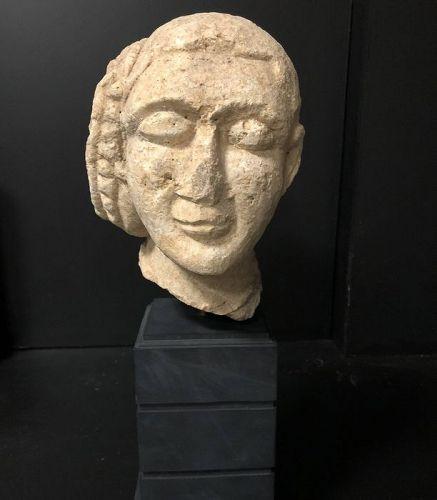 Cypriot Stone head, circa 700 B.C.