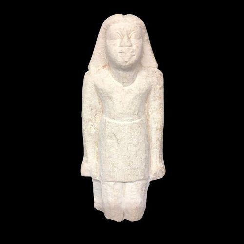 Egyptian limestone figure, Old Kingdom, 6th Dynasty (2323-2150 BC)