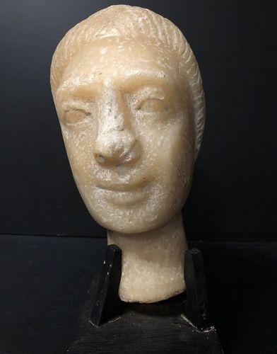 South Arabian Alabaster female head, 3rd century AD