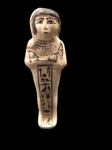 Egyptian Faience ushabti for prince Khaemwaset, 19th Dinasty