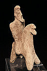 Persian Soldier Terracotta Horse and Rider, 600-400 BC.