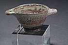 Greek Footed Cup Decorated, 300-500 BC.