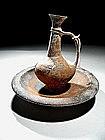 Cypriot Black Terracotta and Red Slip Bilbil, 1550 BC.