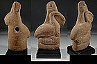 Egyptian Terracotta Figure of God Ibis, 100 BC-100 AD.