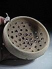 Roman Pottery Bowl-Wine Strainer, 100 AD.