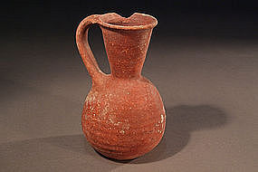 Iron Age II Pottery Wine Pitcher, 900-700 BC.
