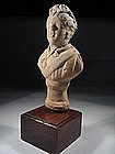Roman terracotta bust of a young emperor, 100 - 300 AD.