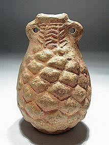 Roman Terracotta Grape Flask, 400 AD.