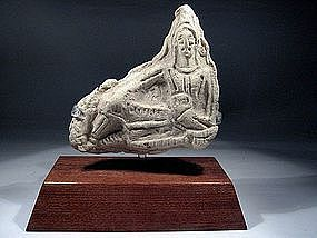 Roman Clay Plaque Depicting a God, 100-300 AD.
