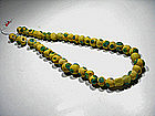 Very Rare Byzantine Glass Bead Necklace, 300-600 AD.