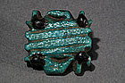 Egyptian Green Glazed Faience Amulet, c. 1500-330 BC.
