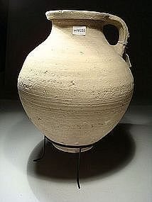 Greek-Hellenistic Terracotta Wine Pitcher, 300-100 BC.