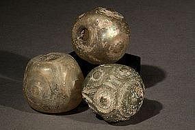 A lot of Islamic Glass Miniature Flacon, 800-1100 AD.