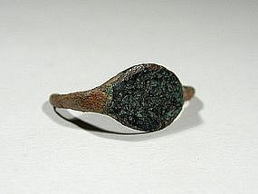 Roman Bronze Ring Fragment, 300-400 AD.