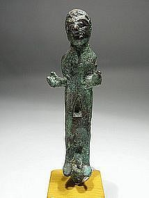Roman-Syrian Bronze Figurine of a Man, 0-100 AD.