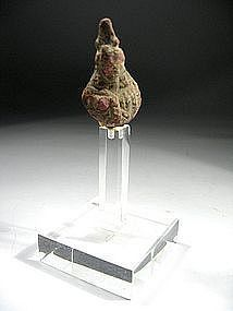 Roman Bronze Fragment Bust, 100-300 AD.
