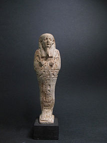 EGYPTIAN GLAZED COMPOSITION SHABTI FOR WAHIBTREMERPTAH