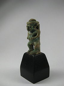 An interesting Egyptian Faience Amulet of Pataikos
