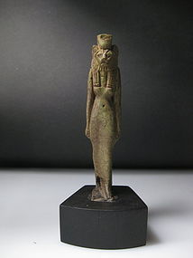 A large Egyptian Faience Sekhmet Amulet 8cm