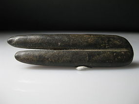 An Ancient Egyptian Dark Stone Two Finger Amulet