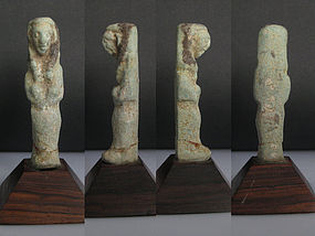 Extremely Rare Egyptian Shabti of KING PSUSENNES II
