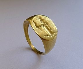 Ancient Roman - Egyptian Gold Ring