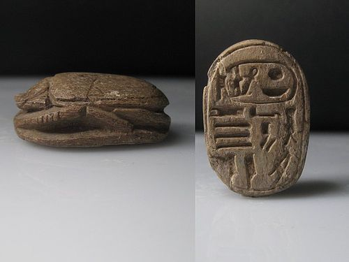 Very Large Steatite Scarab for Amenhotep III, ca. 3,8 cm
