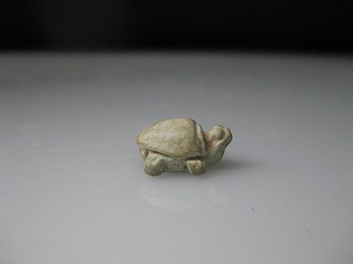 Ancient Egyptian Faience Amulet of a Turtle