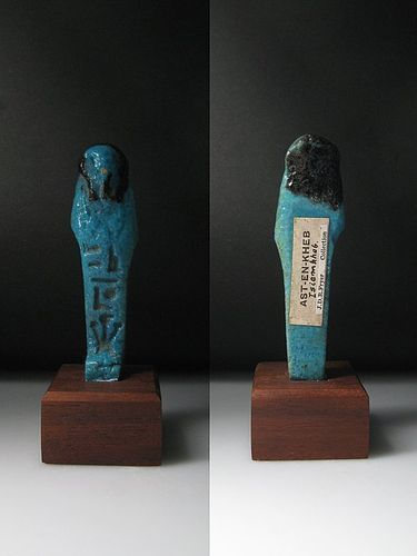 Rare Egyptian Shabti for Iset-en-Khebit, Daughter of King Shabaka