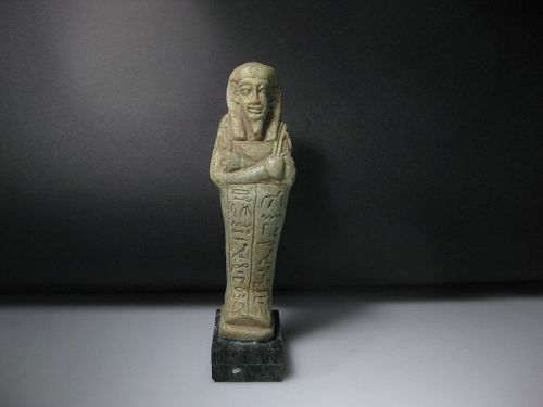 Important Egyptian Shabti for the Overseer of the two Silver Houses
