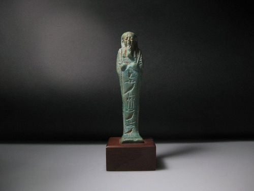 Nice Ancient Egyptian Shabti for Hor, born of RuRu