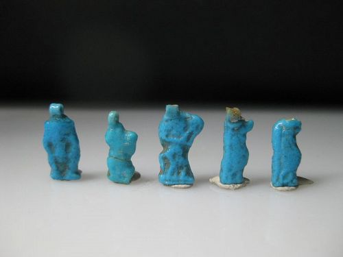 Nice Lot of Five Ancient Egyptian Amarna Amulets