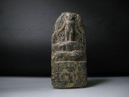 Large Ancient Egyptian Cippus of Horus - ca. 10 cm