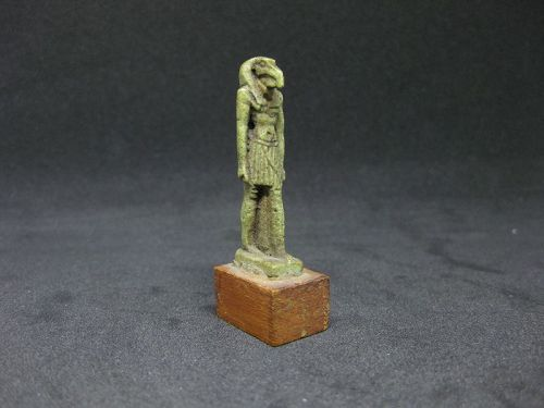 A Fine Ancient Egyptian Faience Thoth Amulet
