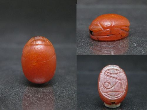 Lovely Ancient Egyptian Carnelian Scarab