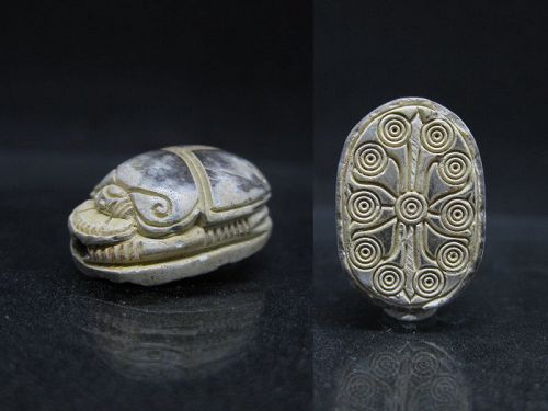 Nice Deeply Carved Ancient Egyptian Scarab