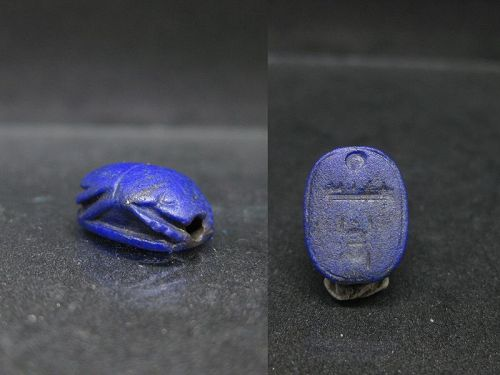 Beautiful Ancient Egyptian Lapis Lazuli Scarab for Thutmose III