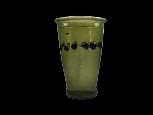 Fantastic Ancient Roman Transparent Yellow Green Glass Beaker