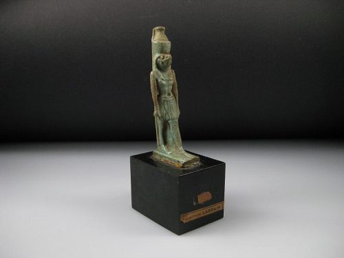 Large ancient Egyptian Faience Horus Amulet
