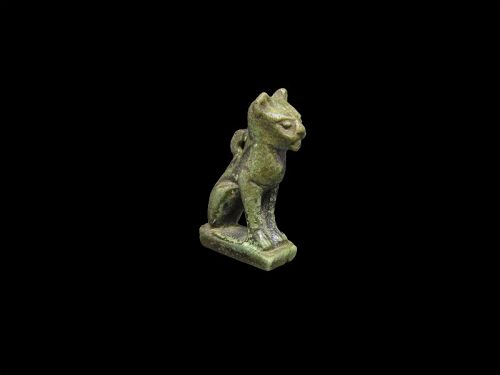 Nice Ancient Egyptian Faience Amulet of a Cat