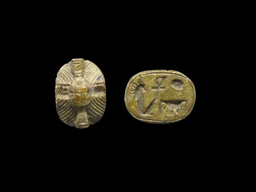 Ancient Egyptian Steatite Scarab for Amenhotep III